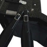 "Black Leather Padded ""Professional"" Accordion Straps"