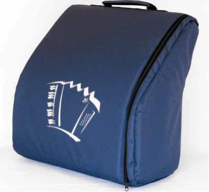 Accordion soft case for 96 bass blue